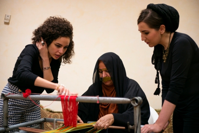 Studio MUJU, Mentalla Said, Jumana Taha, Um Ahmed, Design Days Dubai, Tashkeel, Tanween, sadu, weaving, traditional craft, regional design, artisanal, UAE design, Emirati design