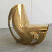 Kuku Chair, Zaha Hadid, Leila Heller Gallery, iconic chair, gold chair, DesignFix
