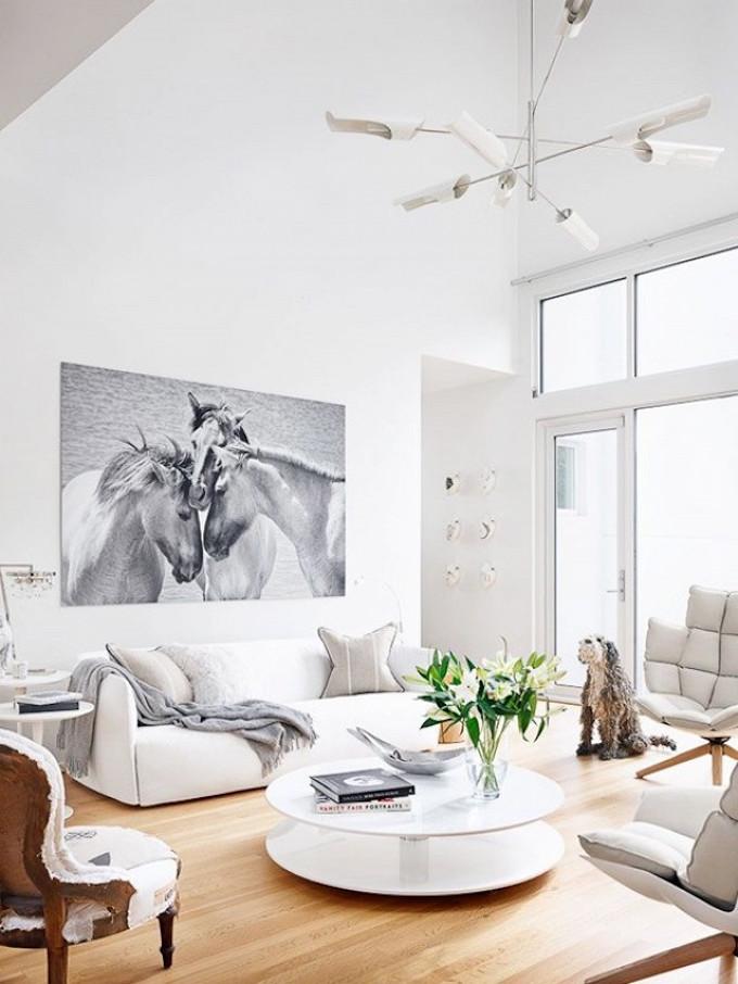 all-white, living room, decor, modern, contemporary
