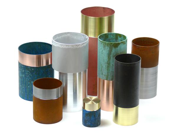 Lex Pott, Dutch designer, Design Days Dubai, oxidised copper, copper vases, copper pots
