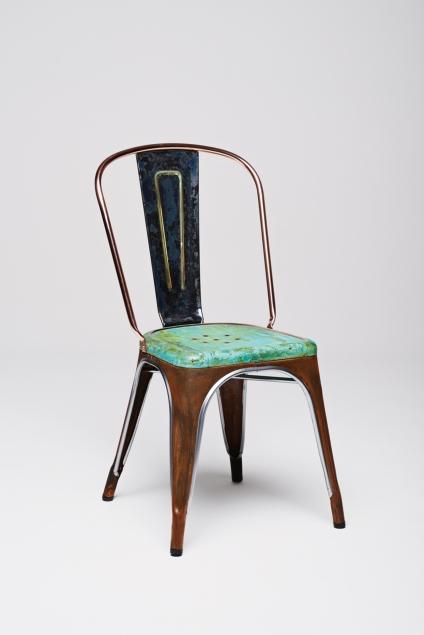 Lex Pott's oxidised copper Tolix chair