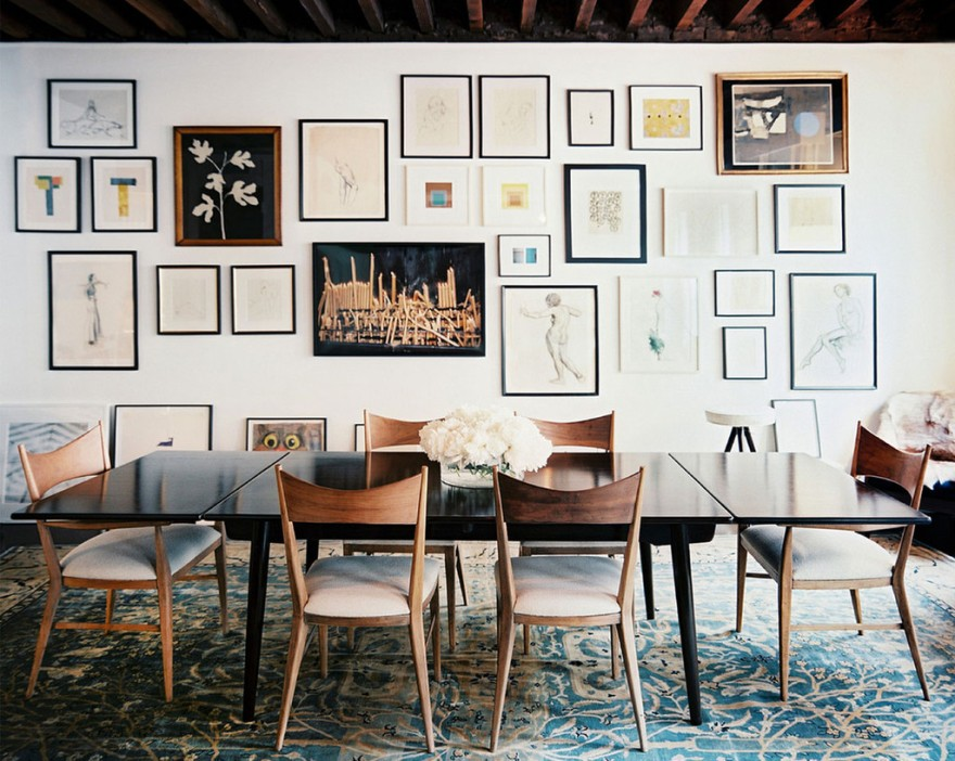 artistic license gallery walls are an unusual way to