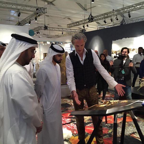 HH Sheikh Mansoor bin Mohammed Almaktoum, Marcel Wanders, Design Days Dubai. Dubai Sheikh, Design Fix, DesignFix