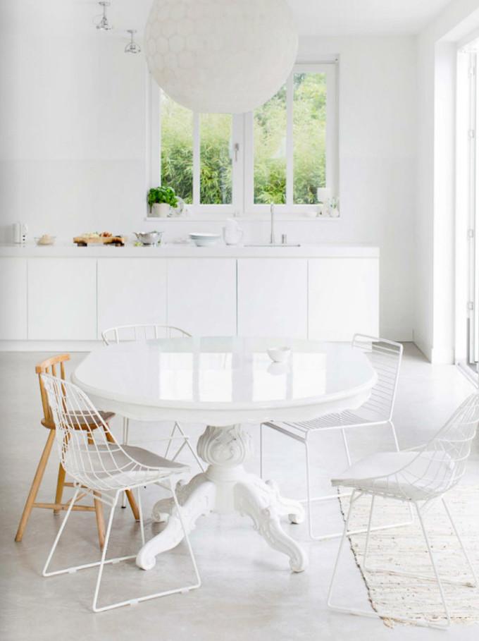 All white kitchen, home decor, design fix