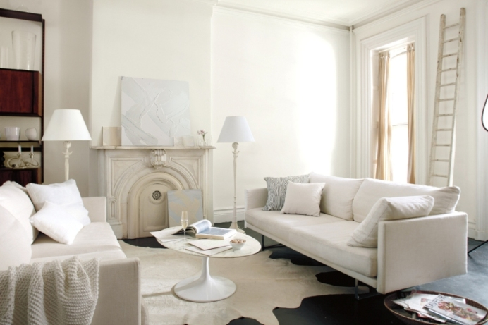 White living room, white room, white paint, white sofa, white furniture, DesignFix, design fix