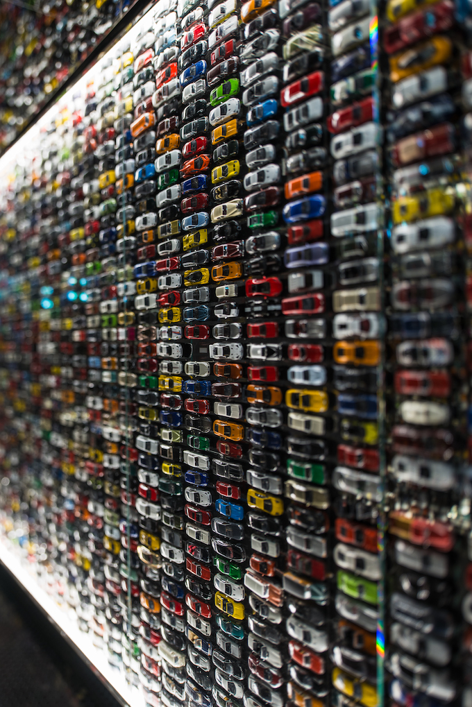 Toy Car Wall in Lower Level of Intersect by Lexus.jpeg