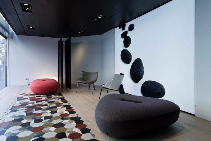 Doshi Levien, B&B Italia, Made in Italy, Italian furniture, Salone del Mobile, Milan furniture fair, ceramic tiles, geometric tiles, designfix, design fix, middle eats design blog, dubai design blog