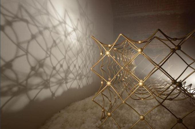 Salone del Mobile, Fuorisalone, Brera District, Milan, B&B Italia, Patricia Urquiola, Beam sofa, Milan furniture fair, Italian design, Made in Italy, gold wire sofa, JCP