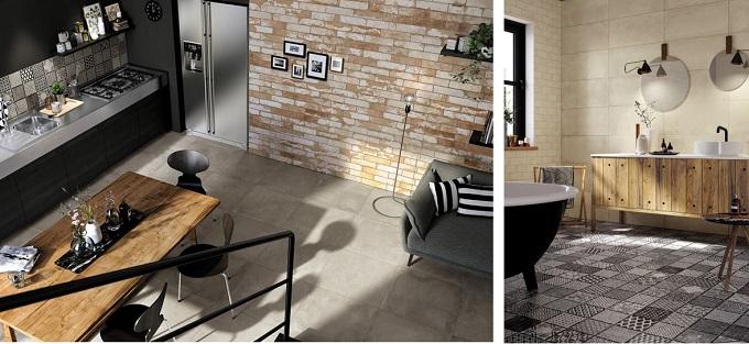 designfix, design fix, middle east design blog, Dubai design blog, Mirage, HMADE, porcelain tile, ceramic tile, floor tile, wall tile, white brick wall, concrete floor, splashback, Made in Italy, Salone del Mobile