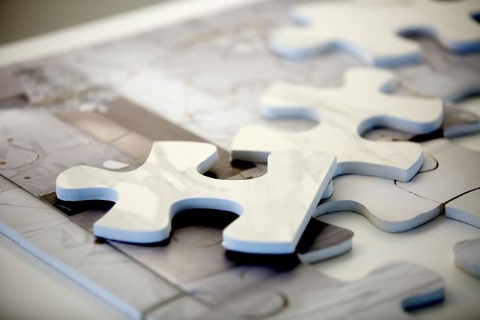 Dubai Mirage Porcelain Tiles Jigsaw Puzzle Marble