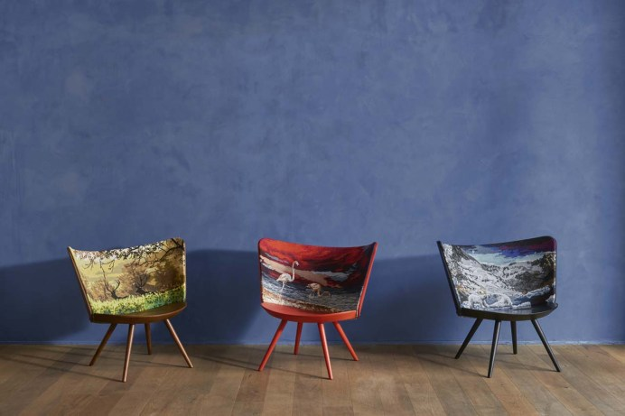 Embroidery Chairs by Johan Lindsten, armchair, Cappalleni, Poltrona Frau Group, PF Emirates, Milan, Salone del Mobile, new collection, new furniture, designfix, design fix, dubai blog, design blog